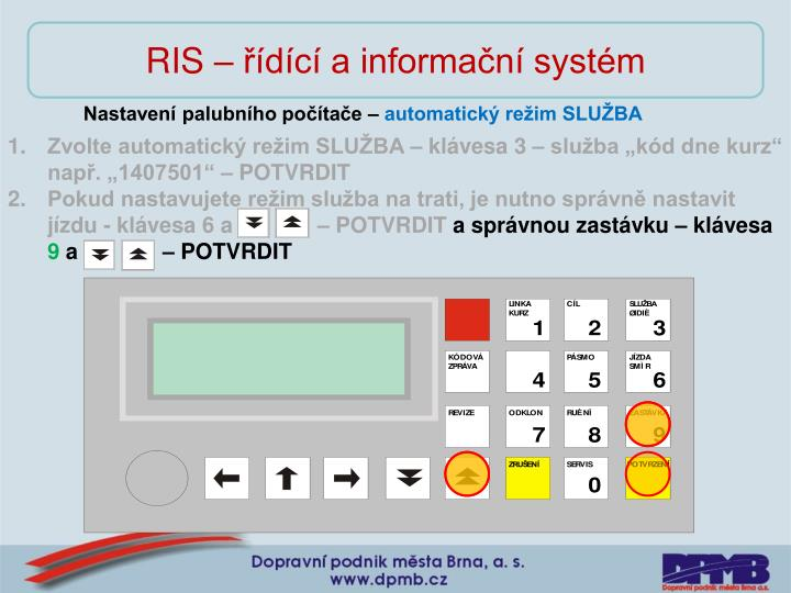 RIS – řídící a informační systém