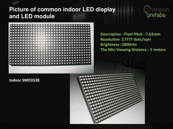 Picture of common indoor LED display and LED module