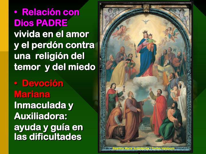 Relación con  Dios PADRE