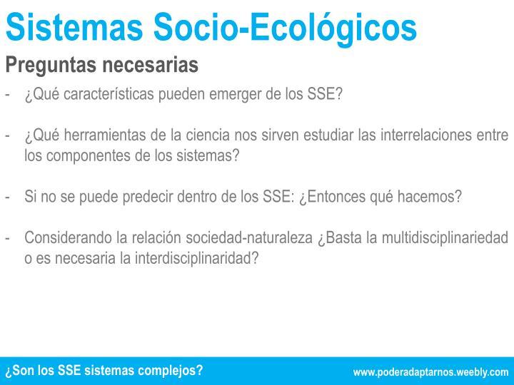 Sistemas Socio-Ecológicos