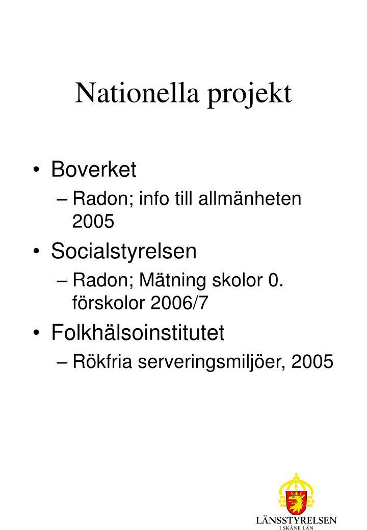 Nationella projekt