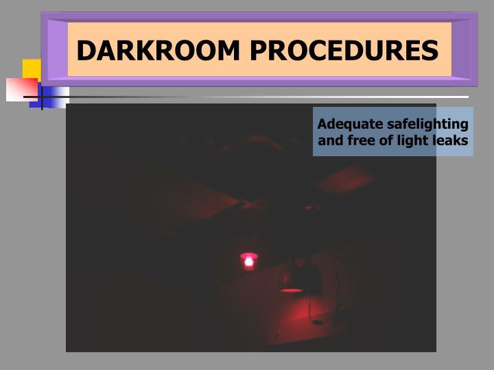 DARKROOM PROCEDURES