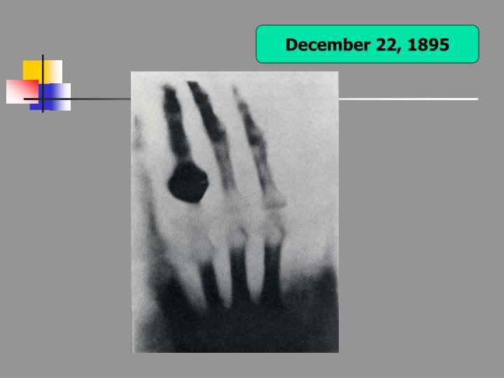 December 22, 1895