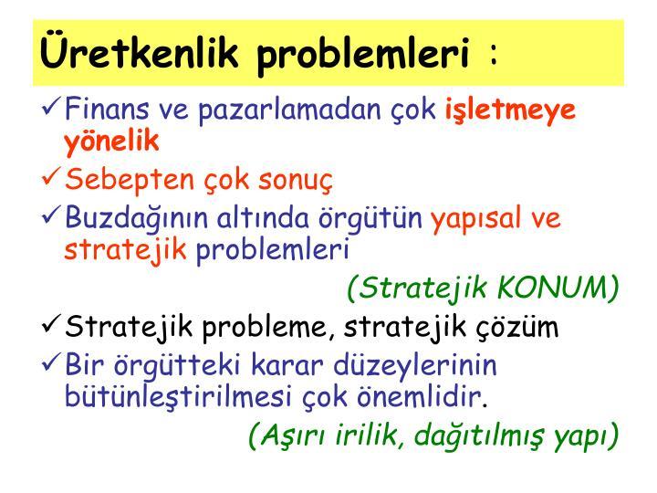 Üretkenlik problemleri