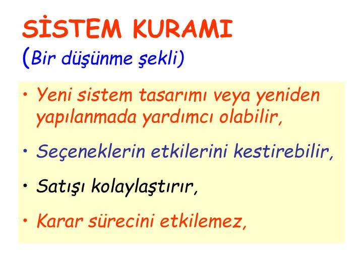 SİSTEM KURAMI