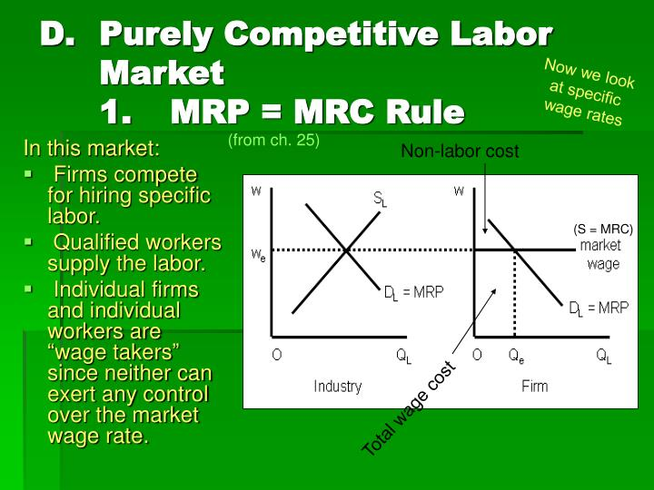 Purely Competitive Labor Market