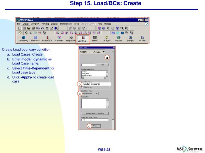 Step 15. Load/BCs: Create