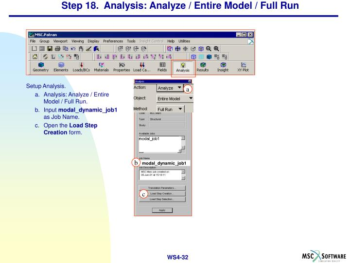 Step 18.  Analysis: Analyze / Entire Model / Full Run