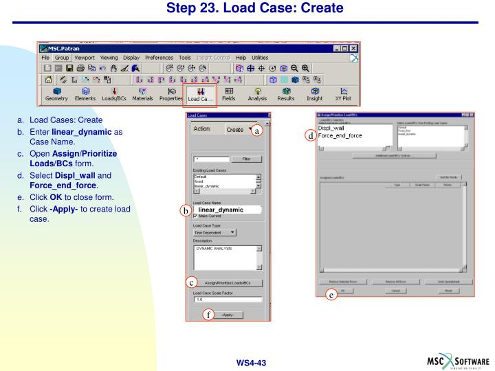 Step 23. Load Case: Create
