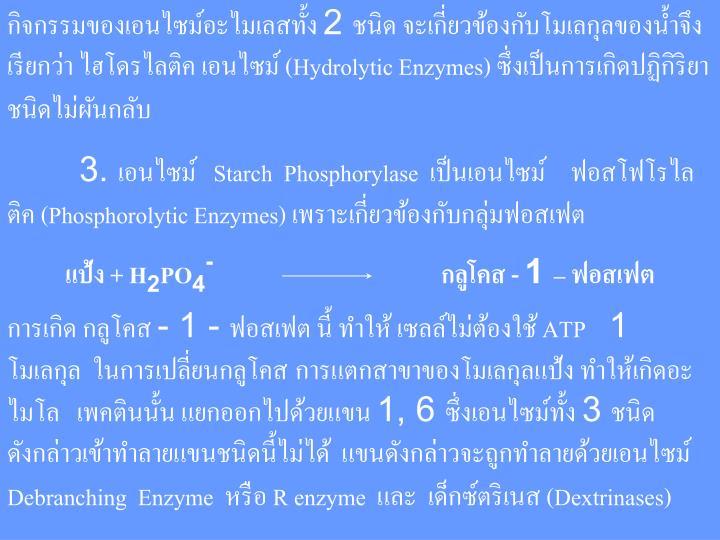 2     (Hydrolytic Enzymes)
