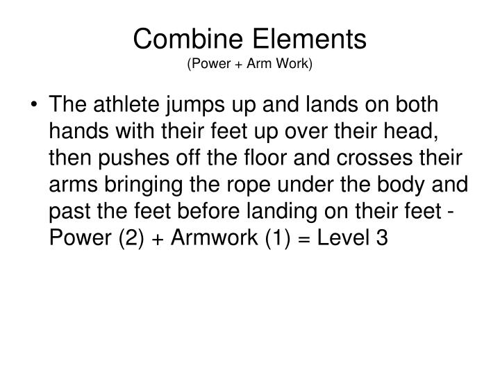 Combine Elements