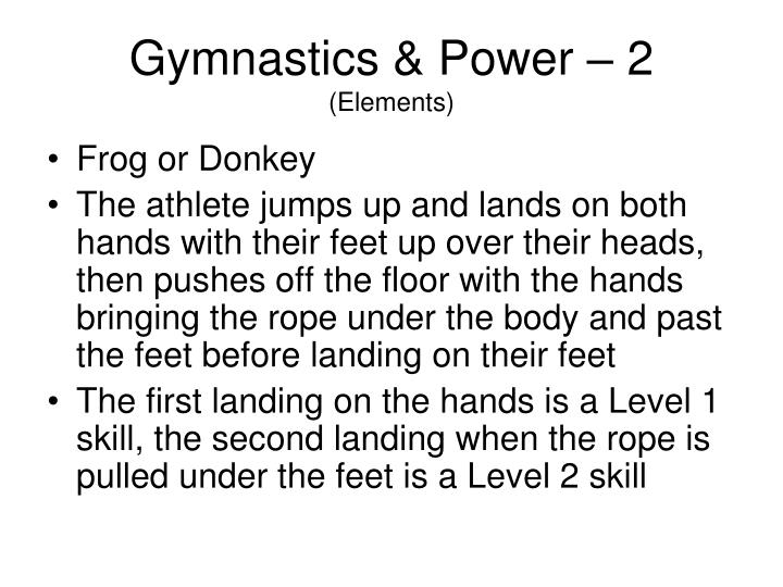 Gymnastics & Power – 2
