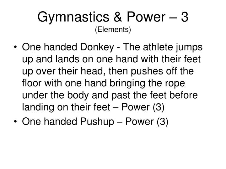 Gymnastics & Power – 3