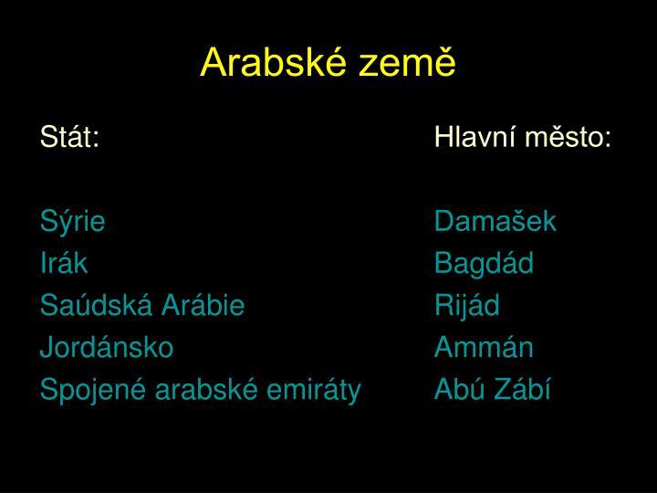 Arabské země