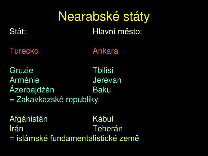Nearabské státy