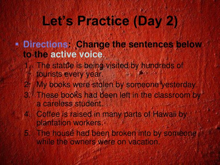 Let's Practice (Day 2)