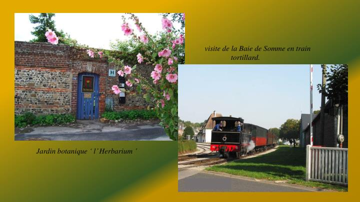 visite de la Baie de Somme en train