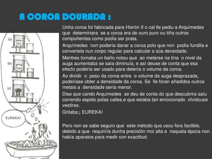 A COROA DOURADA :