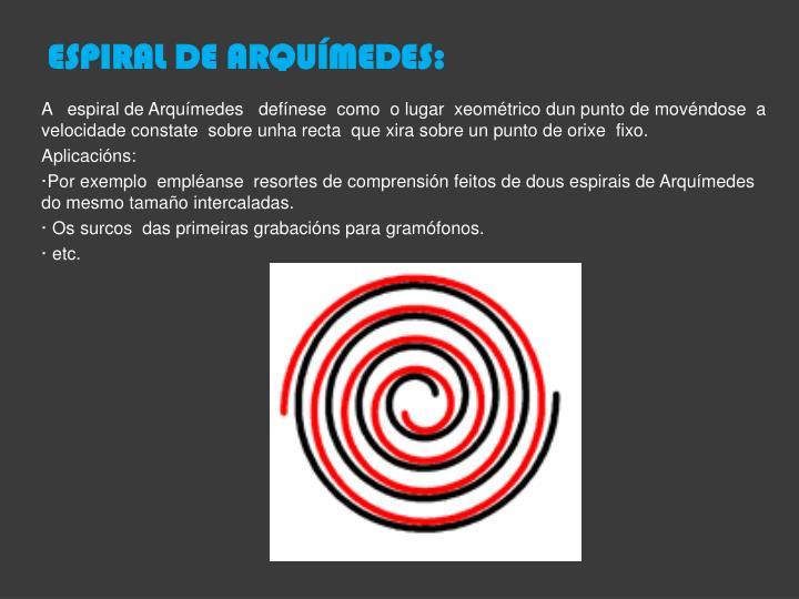 ESPIRAL DE ARQUÍMEDES: