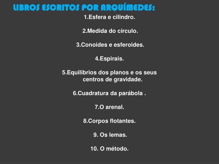 LIBROS ESCRITOS POR ARQUÍMEDES: