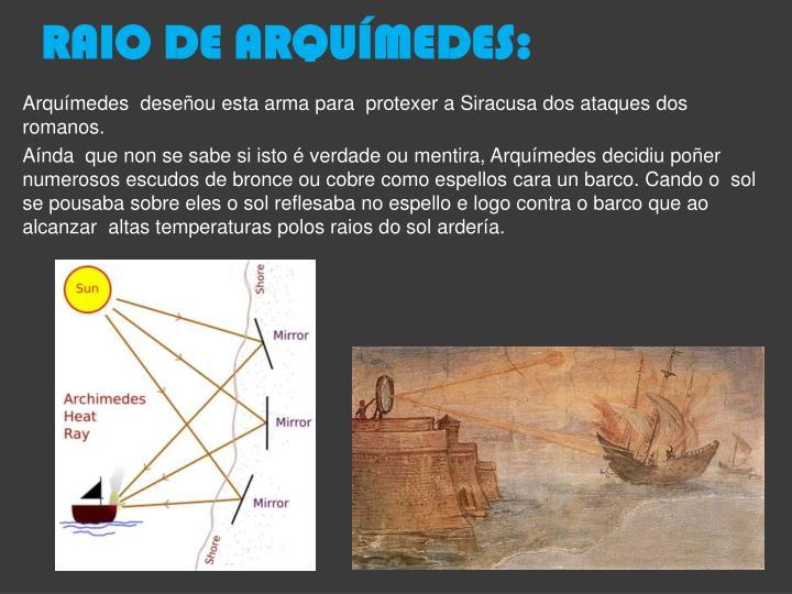 RAIO DE ARQUÍMEDES: