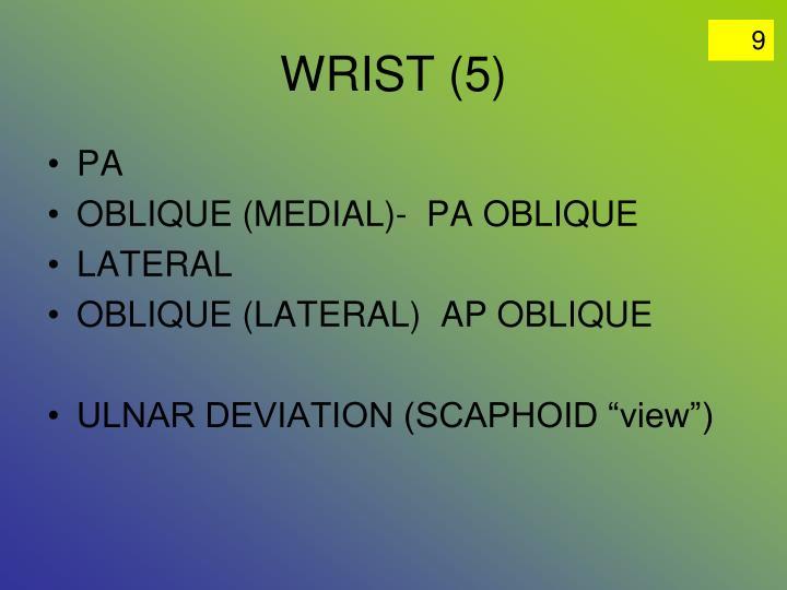 WRIST (5)