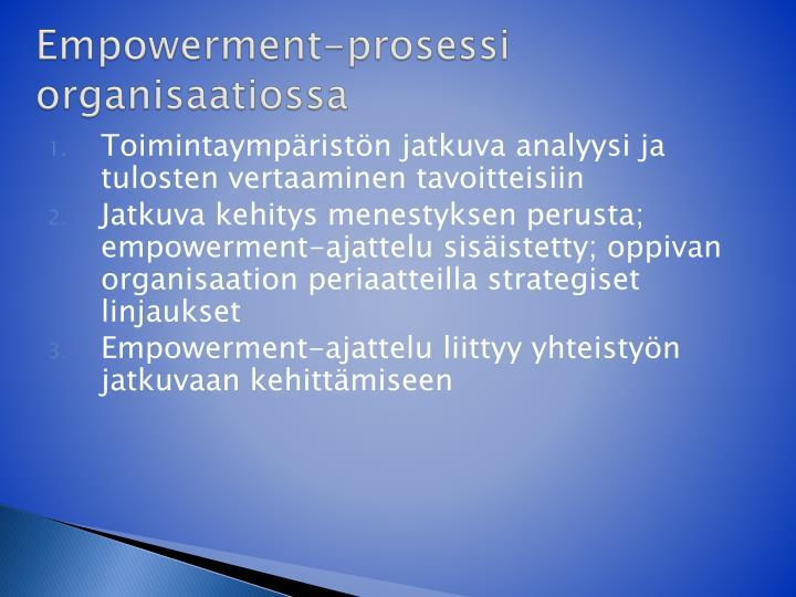 Empowerment-prosessi