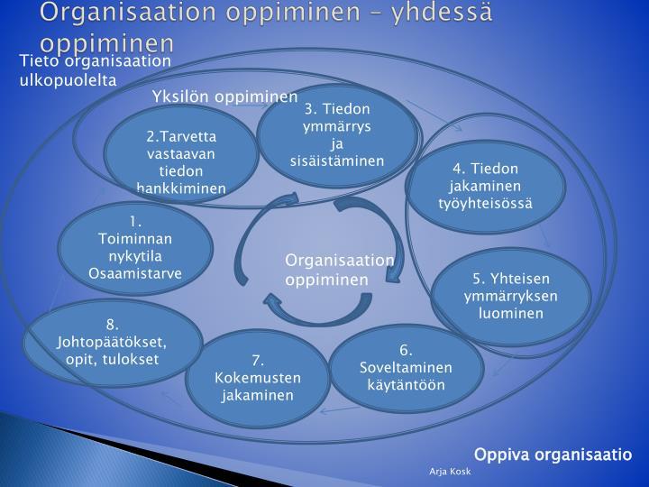 Organisaation oppiminen – yhdessä oppiminen