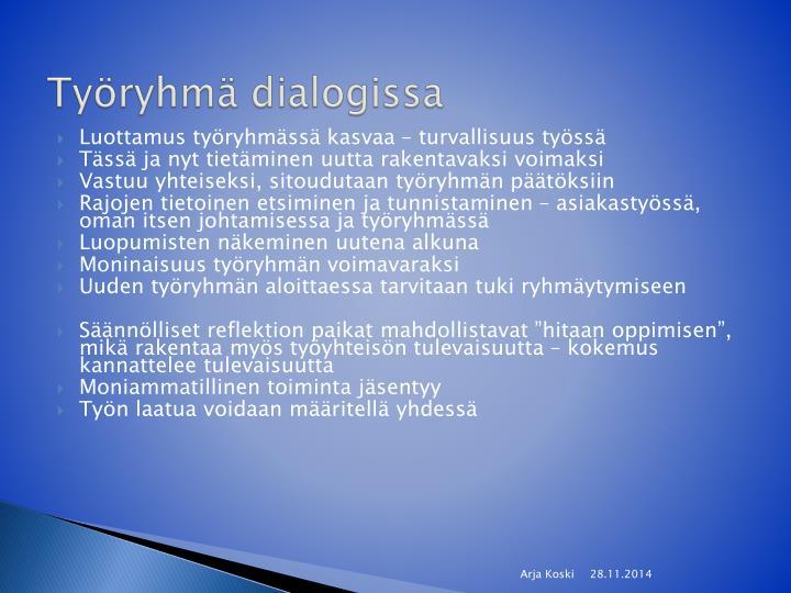Työryhmä dialogissa
