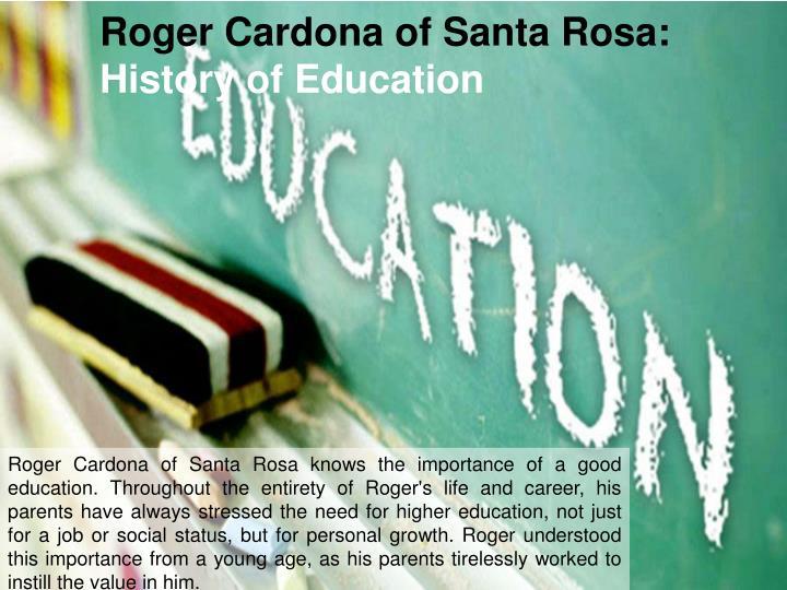 Roger Cardona of Santa Rosa: