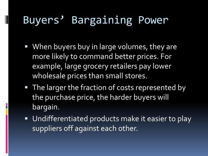 Buyers' Bargaining Power