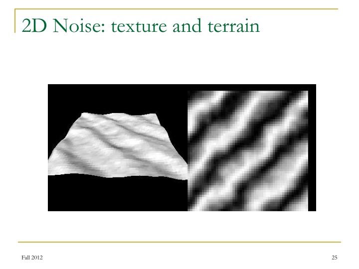 2D Noise: texture and terrain