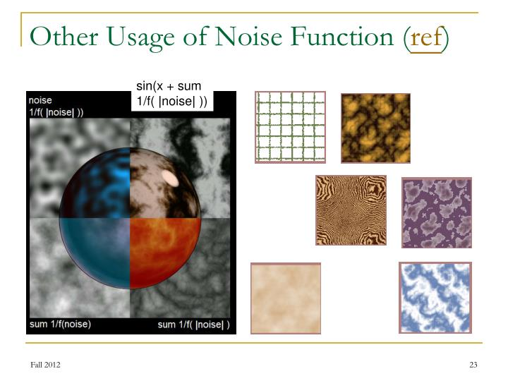 Other Usage of Noise Function (
