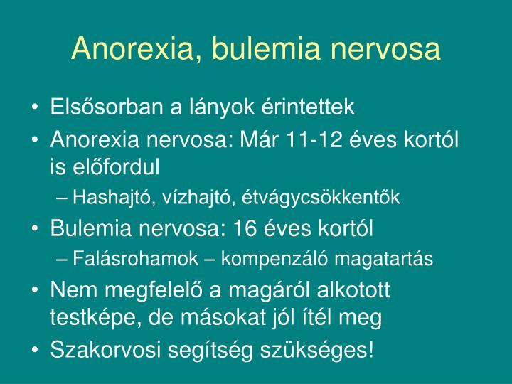 Anorexia, bulemia nervosa