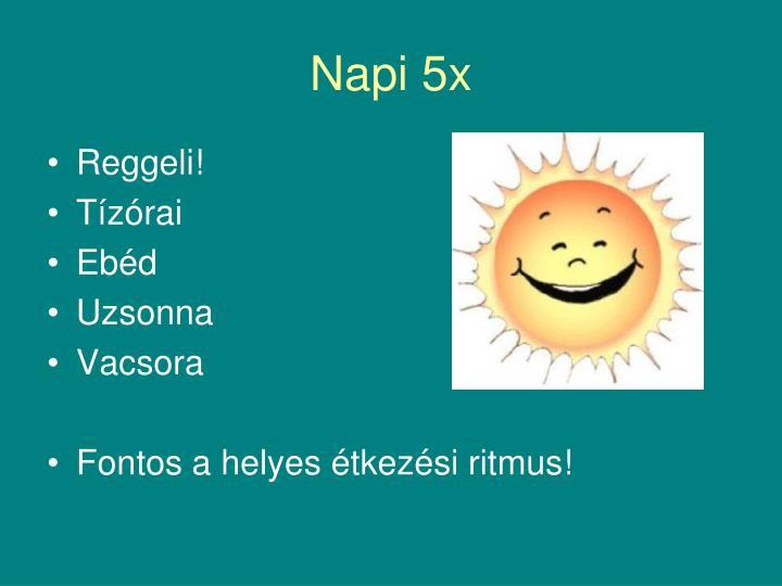 Napi 5x