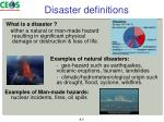 disaster definitions