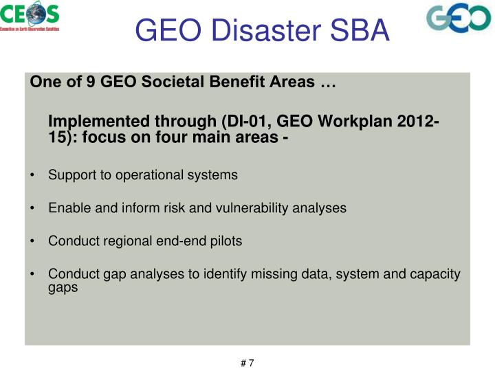 GEO Disaster SBA