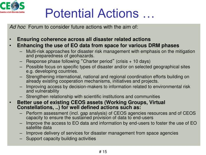 Potential Actions …