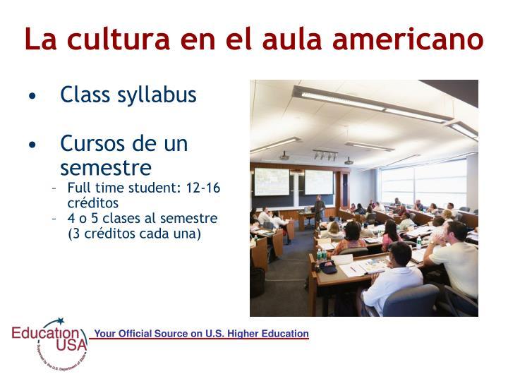 La cultura en el aula americano
