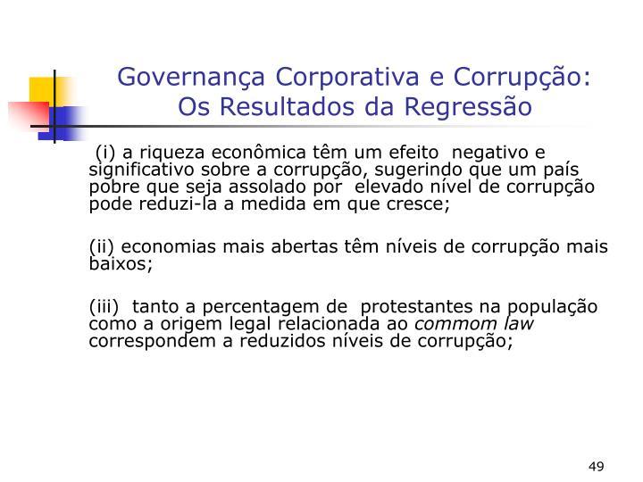 Governança Corporativa e Corrupção: