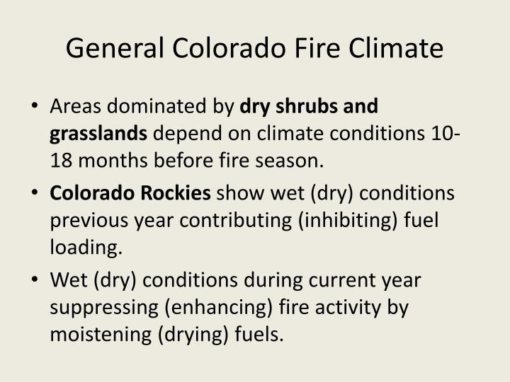 General Colorado Fire Climate