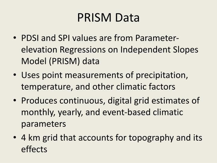 PRISM Data