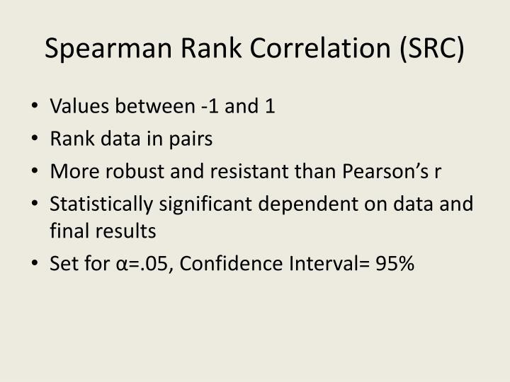 Spearman Rank Correlation (SRC)