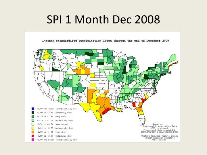 SPI 1 Month Dec 2008