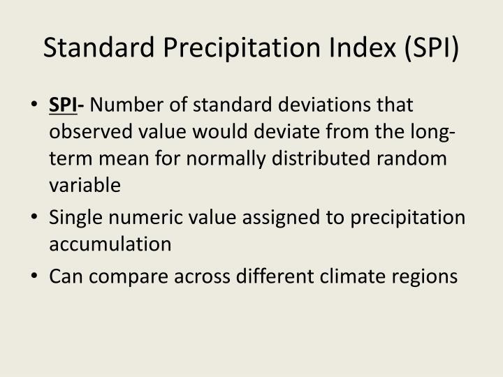Standard Precipitation Index (SPI)