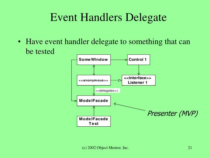 Event Handlers Delegate