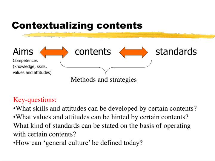 Contextualizing contents