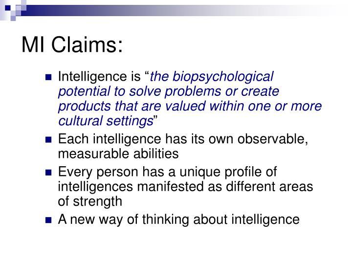MI Claims: