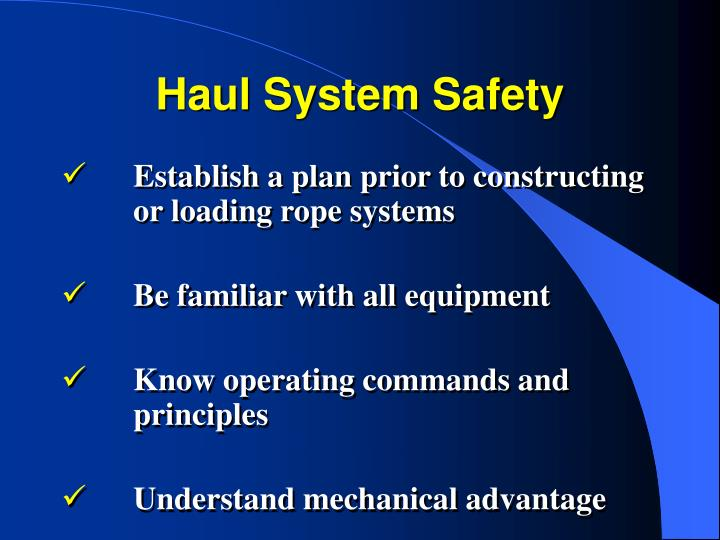 Haul System Safety