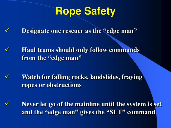 Rope Safety